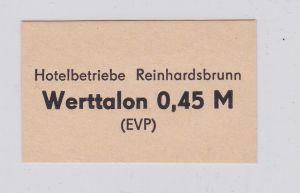 45 Pfennig DDR Werttalon Hotelbetriebe Reinhardsbrunn ohne Jahr (126408)