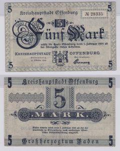5 Mark Banknoten Stadt Kreishauptstadt Offenburg 22.10.1918 (126426)