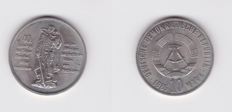 DDR Gedenk Münze 10 Mark 40 Jahre Kriegsende 1985 (127110)