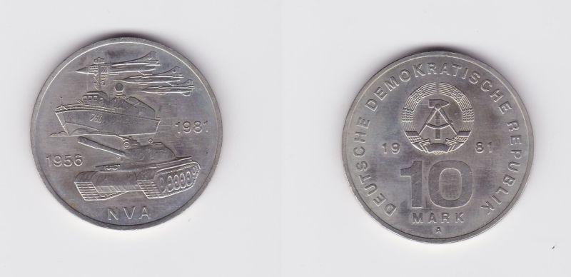 DDR Gedenk Münze 10 Mark 25 Jahre Nationale Volksarmee NVA 1981 (127083)