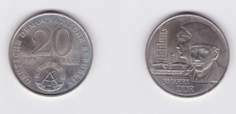 DDR Gedenk Münze 20 Mark 30. Jahrestag der DDR 1979 (127031)