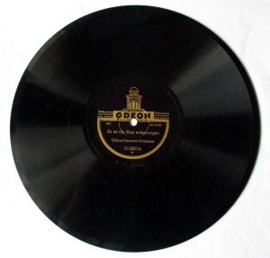 Schellackplatte Odeon