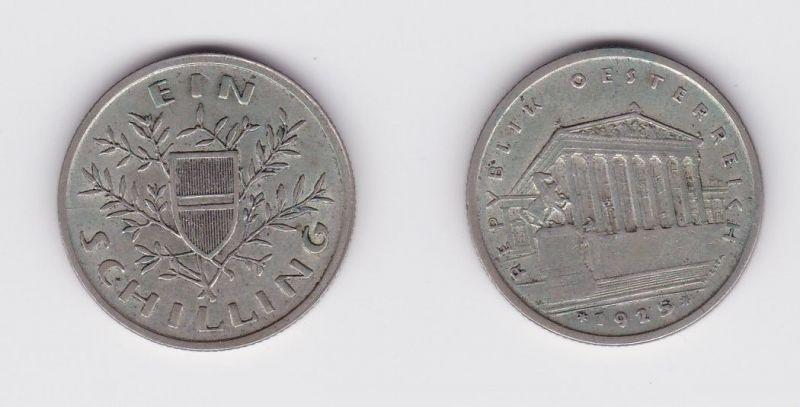 1 Schilling Silber Münze Österreich Parlamentsgebäude 1925 (127007)