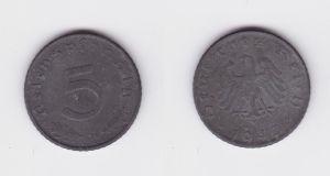 5 Pfennig Zink Münze alliierte Besatzung 1947 D Jäger 374 (126992)