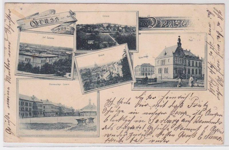 19947 Mehrbild Ak Gruß aus Dieuze Duß in Lothringen 1900