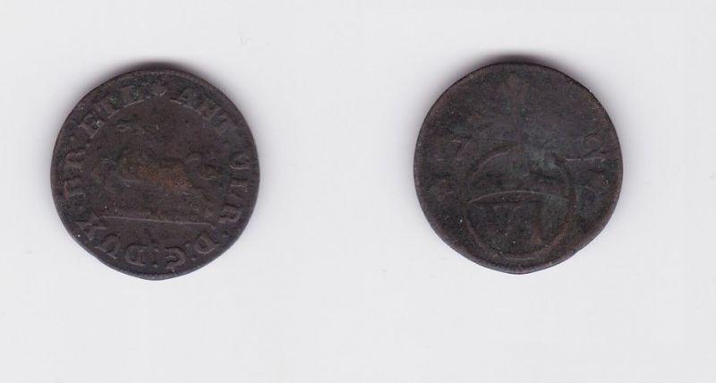6 Pfennig Silber Münze Braunschweig Wolfenbüttel 1695 (127346)