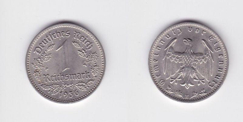 1 Mark Kupfer Nickel Münze III.Reich 1936 E Jäger Nr. 354 (127034)