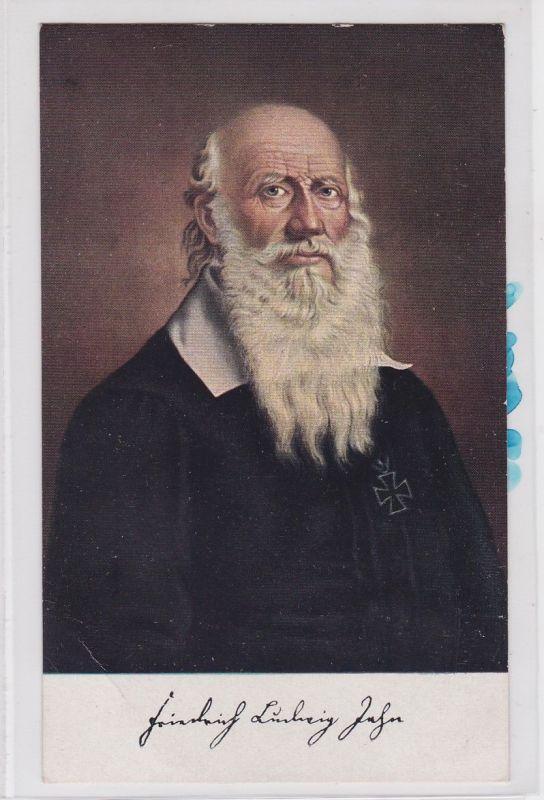 84584 Künstler AK Portrait Friedrich Ludwig Jahn mit Eisernem Kreuz