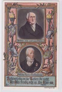 60723 Künstler AK Porträt Freiherr vom und zum Stein & Fürst von Hardenberg