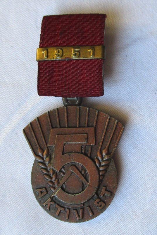 Seltener DDR Orden Aktivist des 5 Jahrplan 1951 (126497)