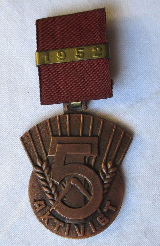 DDR Orden Aktivist des 5 Jahrplan 1952 (125963)