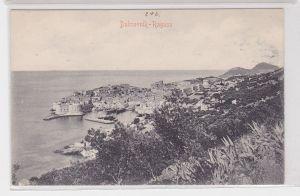 91808 AK Dubrovnik Ragusa Kroatien Küstenansicht um 1910