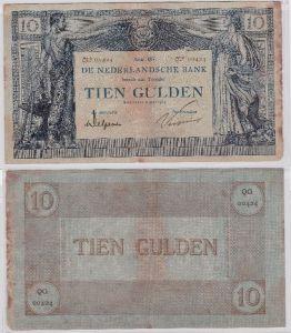 Seltene 10 Gulden Banknote Niederlande 6.Mai 1919 (109964)