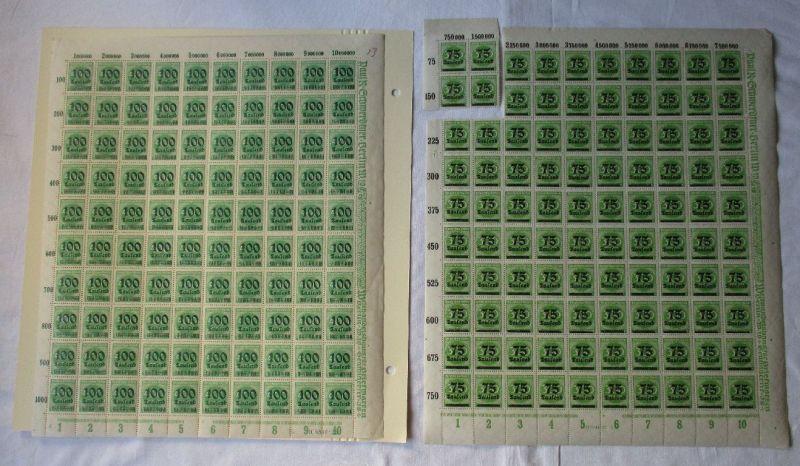 Dt. Reich Inflation OPD-Überdrucke Bogensammlung 55 Bögen postfrisch (110276)