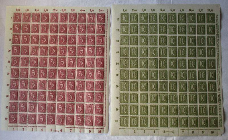 Deutsches Reich Inflation Bogensammlung Mappe mit 73 Bögen postfrisch (117458)