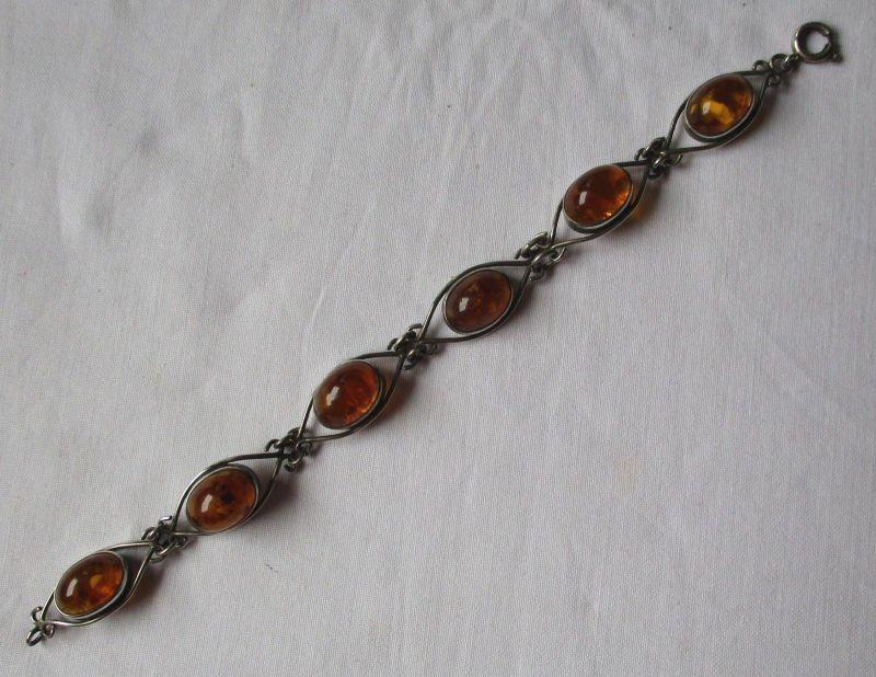 Elegantes Bernstein Armband 835er Silber Fischlandschmuck (113999)