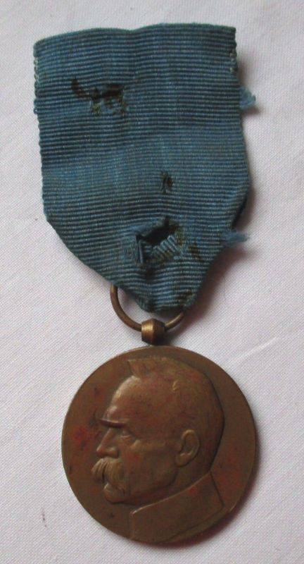 Seltene polnische Gedenkmedaille 10 Jahre Unabhängigkeit Piłsudski 1928 (112011)