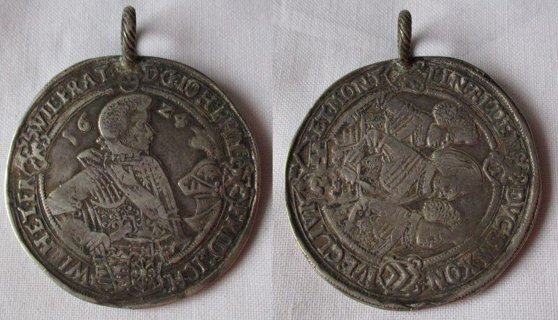 1 Taler Silber Münze Sachsen Altenburg 1624 Johann Philipp und seine 3 Brüder