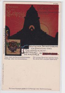 87373 AK Gruss aus Leipzig - Zur Erinnerung an die Grundsteinlegung 1900
