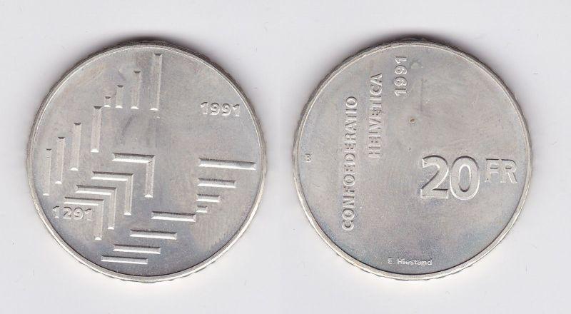 20 Franken Silbermünze Schweiz 700Jahre schweizerische Eidgenossenschaft(116063)