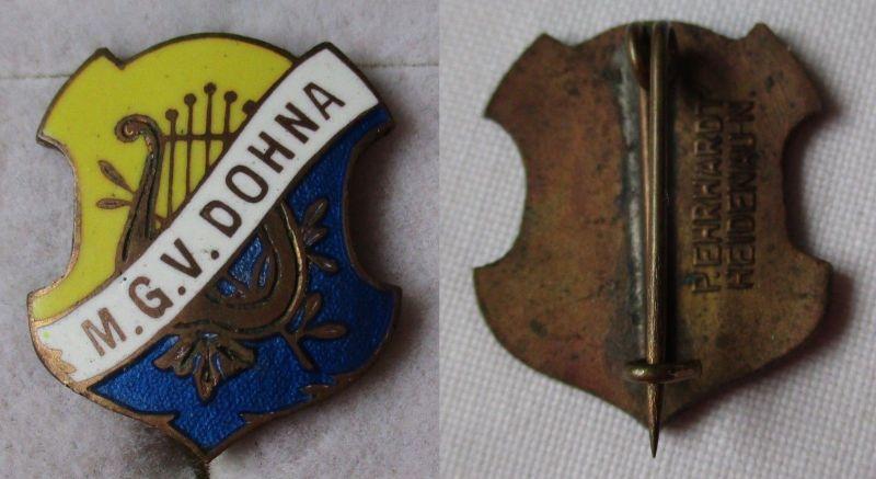 Emailliertes Abzeichen M.G.V. Männergesangsverein Dohna um 1900 (115366)