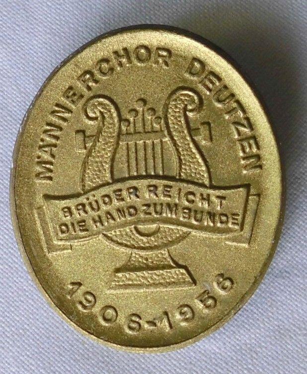 Alte Blechabzeichen Männerchor Deutzen 1906-1956 (110693)