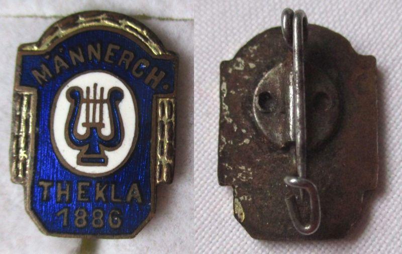 Emailliertes Abzeichen Gesangsverein Männerchor Thekla 1886 (112376)