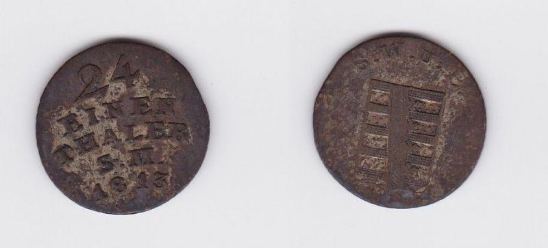 1/24 Taler Münze Sachsen Weimar Eisenach 1813 S.M. (119285)