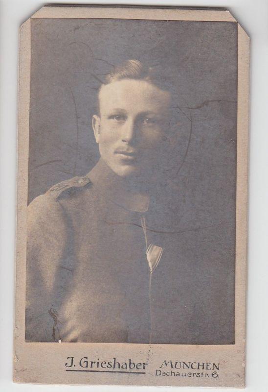 "67820 Kabinett Foto München Soldat 20. Infanterie-Regiment ""Prinz Franz"""