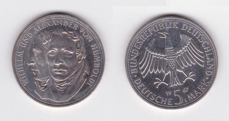 5 Mark Silber Münze Deutschland Gebrüder Humboldt 1967 F (104840)