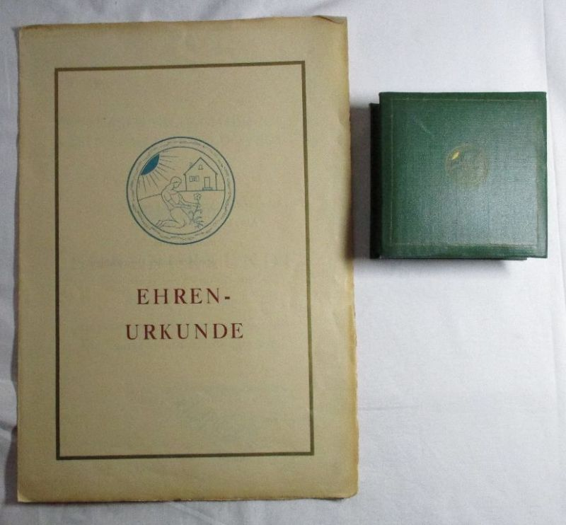 Ehrenurkunde & Medaille Zentrale Fachkommission Kleingärtner & Siedler (126771)