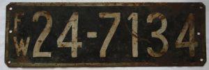 KFZ Kennzeichen französische Besatzungszone Württemberg-Hohenzollern (127273)