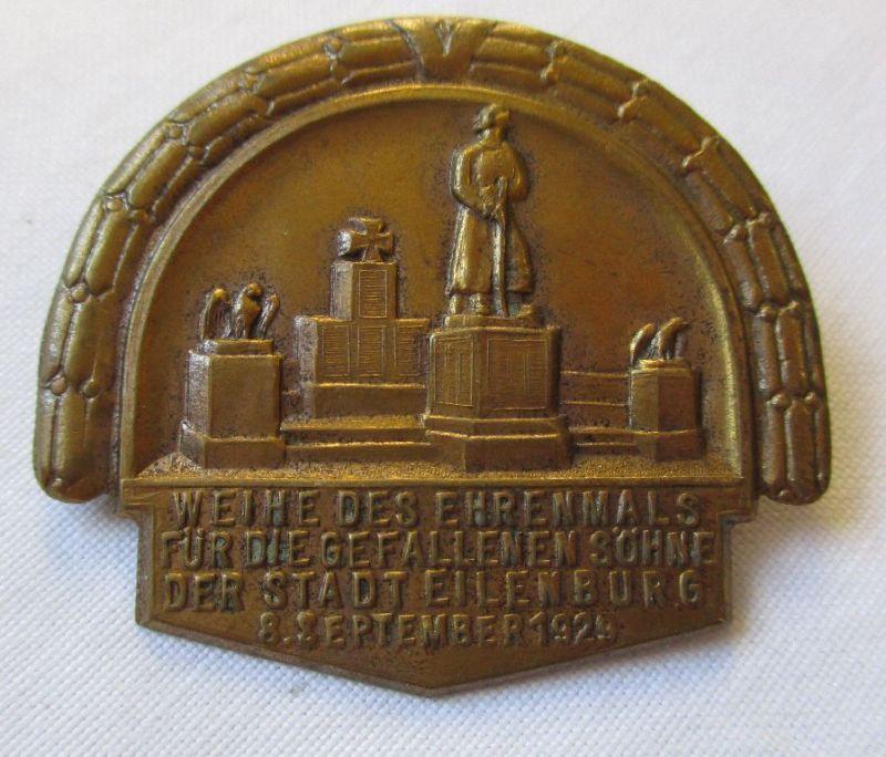 Abzeichen Weihe des Ehrenmals für die gefallenen Söhne Eilenburg 1929 (126340)
