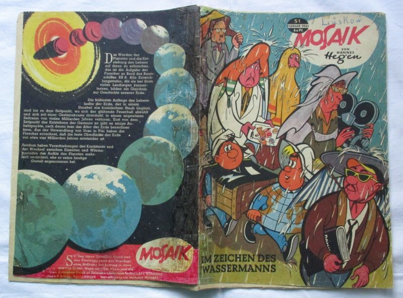 Mosaik von Hannes Hegen Digedag Nummer 51 von 1961 (110388)