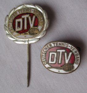 2x Abzeichen Deutscher Tennis-Verband DTV Sport silberne Ehrennadel (118114)