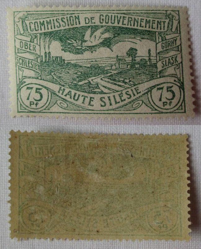 Seltene 75 Pfennig Marke Oberschlesien Michel 24 (Farbe!) (101067)