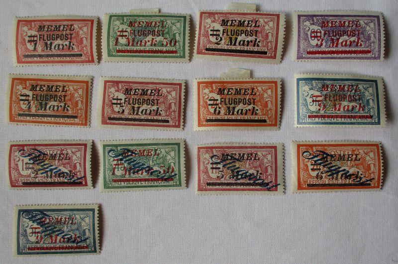 Briefmarken Memelgebiet Flugpost mit 13Werten ungebraucht (103219)