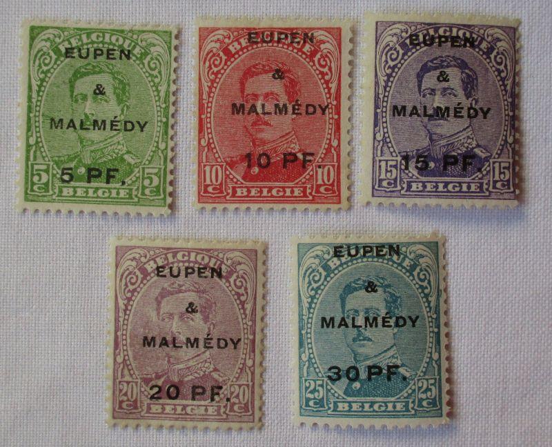 Briefmarken Eupen & Malmedy mit 5 Werten ungebraucht (101400)