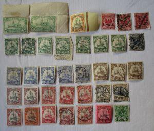 Briefmarken Deutsch Ostafrika Interessante Sammlung mit 36 Werten (112563)
