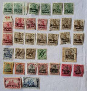 Briefmarken dt.Post in Marokko Interessante Sammlung mit 33 Werten (103877)