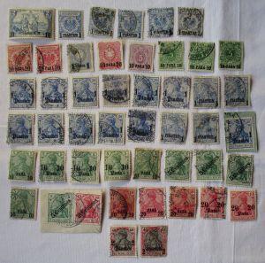 Briefmarken dt.Post in der Türkei Interessante Sammlung mit 48 Werten (108794)
