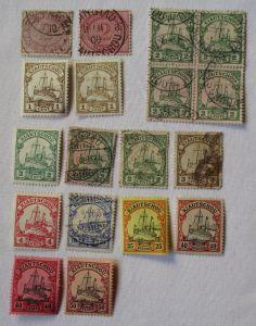 Briefmarken dt. Kolonie Kiautschou Interessante Sammlung mit 18 Werten(106251)