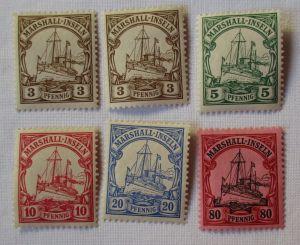 Briefmarken Kolonie Marshall Inseln Interessante Sammlung mit 6 Werten (101008)