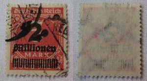 Seltene alte Briefmarke Inflation 2 Millionen Mark gestempelt (109186)