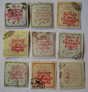Briefmarken Postes Persanes kleine Sammlung mit 9 Werten (113180)