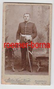 65438 Original Kabinett Foto Soldat mit Säbel Magdeburg um 1915