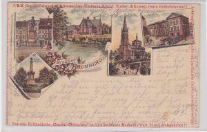 88103 Reklame Ak Lithographie Gruss aus Bromberg Bydgoszcz 1901
