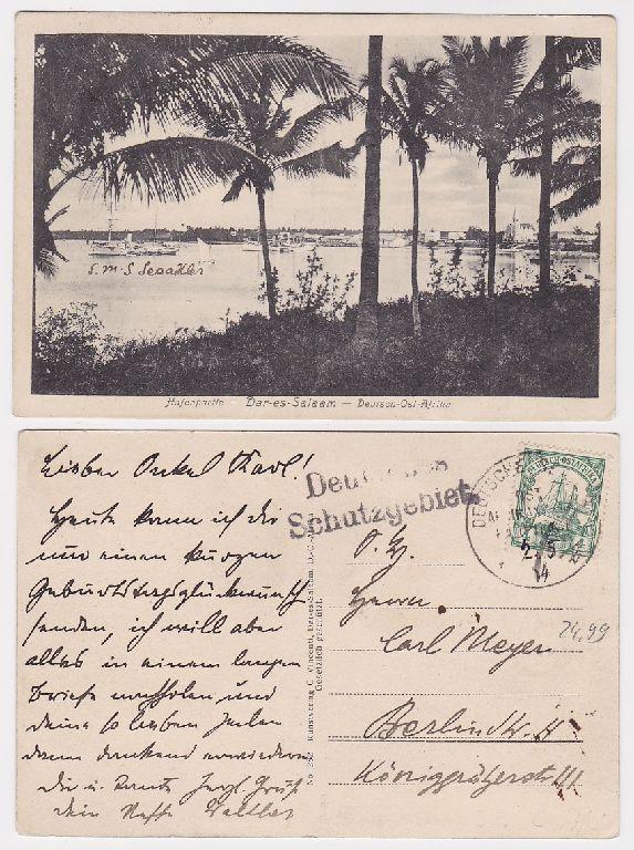 91560 Ak Daressalam Dar-es-Salaam Hafenpartie in Deutsch Ostafrika 1914