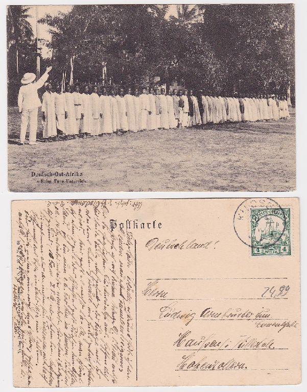91517 Ak Beim Turnunterricht Deutsch Ostafrika 1910