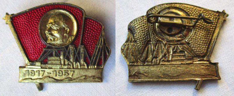 UDSSR Abzeichen Russland Lenin Kampf ü. dem Schiff der Aurora 1917-1957 (121290)